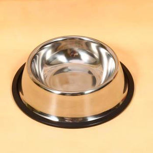 Stainless Steel Standard Pet Cat Water Bowl Food Container Dish Feeder