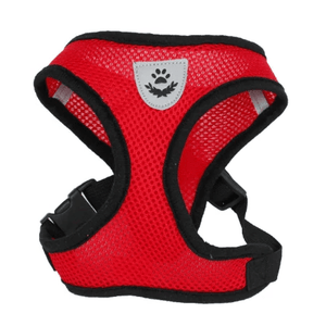 Cat Dog Pet Walking Harness With Leash Red