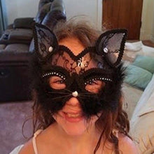 Load image into Gallery viewer, Cat Halloween Masquerade Party Mask