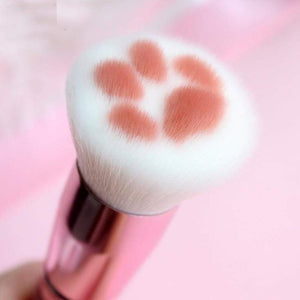 Cat Claw Paw Makeup Brushes Foundation Concealer Beauty Tool Maquiagem Short Pink