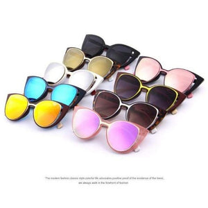 Fashion Cat Eye Sunglasses Women Brand Designer Retro Pierced Female