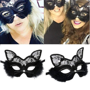 Cat Halloween Masquerade Party Mask