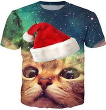 Load image into Gallery viewer, 3D Cat Printed Unisex T-Shirt
