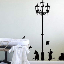 Load image into Gallery viewer, Creative Popular Ancient Lamp Cats and Birds Wall Sticker cartoon Wall