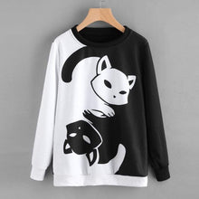 Load image into Gallery viewer, Yin And Yang Cat Sweater