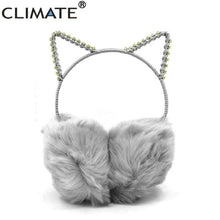 Load image into Gallery viewer, Cat EarMuffs Rhinestone Headbands