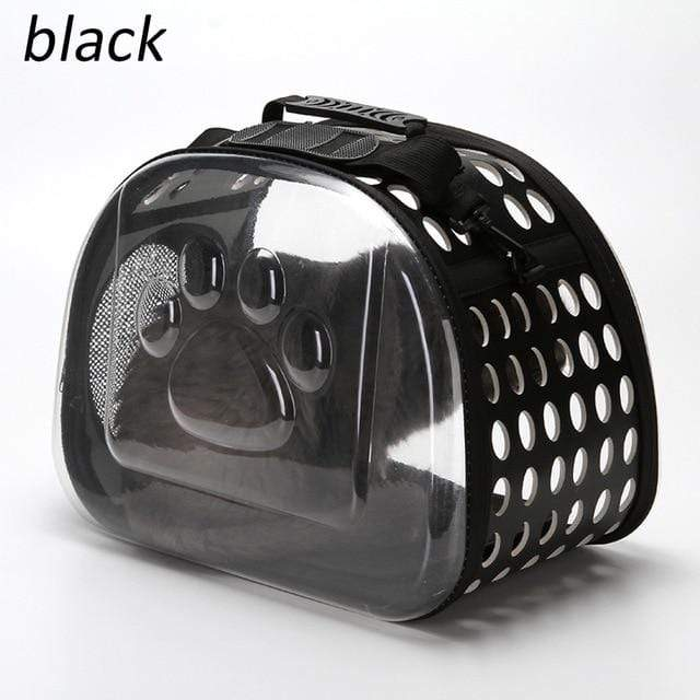 Portable Travel Shoulder Pet Bag Outdoor Puppy Cat Carrier Backpacks  Black