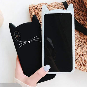 3D Cat Ears Tassels iPhone Case