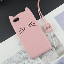 Load image into Gallery viewer, 3D Cat Ears Tassels iPhone Case