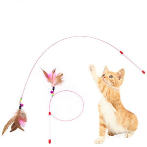 Fun Feather Wire Rod Cat Toy