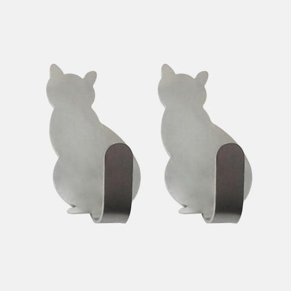 2pcs Self Adhesive Cat Hooks