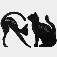 Load image into Gallery viewer, 2pcs/Set Cat Eyeliner Makeup Stencil