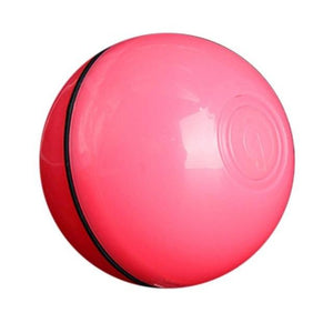 360 Degree Interactive Cat LED Motion Ball Toy USB Electric Automatic  Red