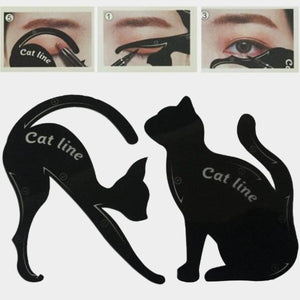 2pcs/Set Cat Eyeliner Makeup Stencil