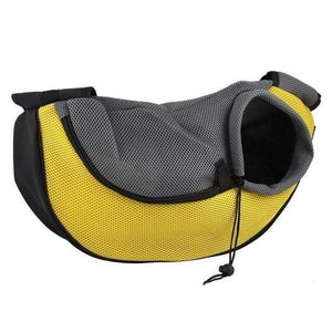 Pet Carrier Cat Dog Carrier Sling Front Mesh Travel Tote Shoulder Bag  Yellow