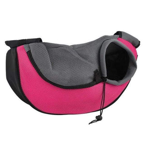 Pet Carrier Cat Dog Carrier Sling Front Mesh Travel Tote Shoulder Bag  Fucshia