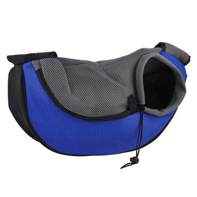 Pet Carrier Cat Dog Carrier Sling Front Mesh Travel Tote Shoulder Bag  Dark Blue