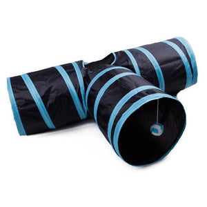 Three-Way Exercise Tunnel Cat Toy