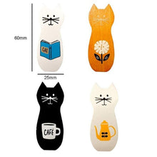 Load image into Gallery viewer, 4PCS/lot Cat Mini Wooden Clips Pegs
