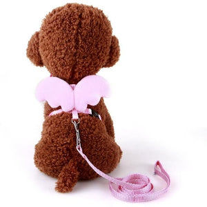 Small Angel Wings Adjustable Leash