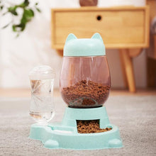 Load image into Gallery viewer, Cat Ear Food & Water Dispenser