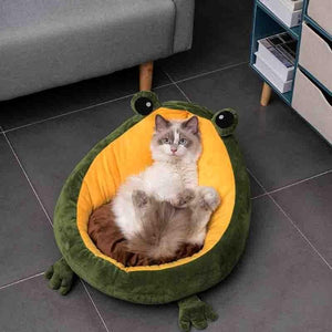 Comfortable Frog Cushion Pet Bed
