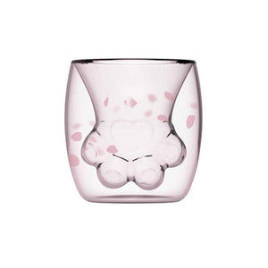 Double Wall Cat Paw Glass
