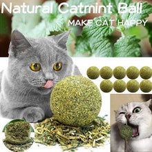Load image into Gallery viewer, Pet Catnip Toys Edible Catnip Ball Safety Healthy Cat Mint Clean Teeth
