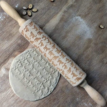 Load image into Gallery viewer, Cat Wooden Baking Pastry Rolling Pin