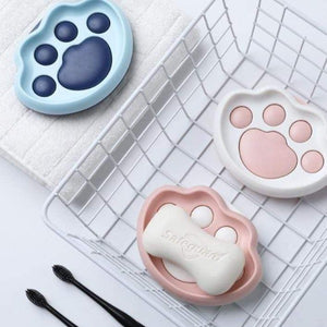 Cat Bathroom Soap Dish Holder