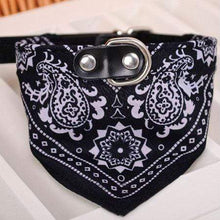 Load image into Gallery viewer, Adjustable Bandana Scarf Collar Black
