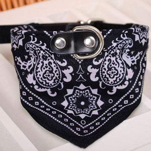 Adjustable Bandana Scarf Collar Black