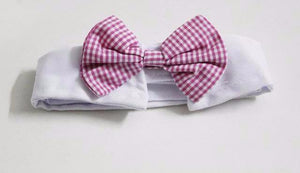 Colors Cat Dog Bow-tie Collar Decoration Christmas Grooming Pet Supply Pink