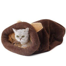 Load image into Gallery viewer, Cat Bed Sleeping Bag Warm Comfortable Kitten