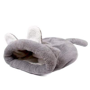 Cat Bed Sleeping Bag Warm Comfortable Kitten Winter Nest Cushion Pets Grey