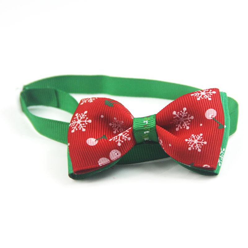 Festive Snowflake Collar Pet Dog Cat Necklace Bow Tie Collar Adjustable