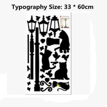 Load image into Gallery viewer, CatCurio Pet Store - World's Best Cat Supplies Store - Cat Accessories Cat-Themed GiftsCreative Popular Ancient Lamp Cats and Birds Wall Sticker cartoon Wall