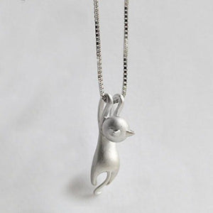 Hanging Cat Necklace Women Minimalist Kitty Necklaces Pets Lover Gifts