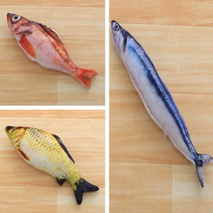 Fish Toys Stuffed Scratch Board for Pets
