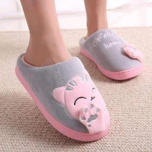 Plush Women Winter Home Slipper Indoor Bedroom Loves Couple Shoes Warm