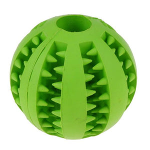 Interactive Rubber Balls Pets Dog Cat Elasticity Teeth Ball Chew Toys  Green