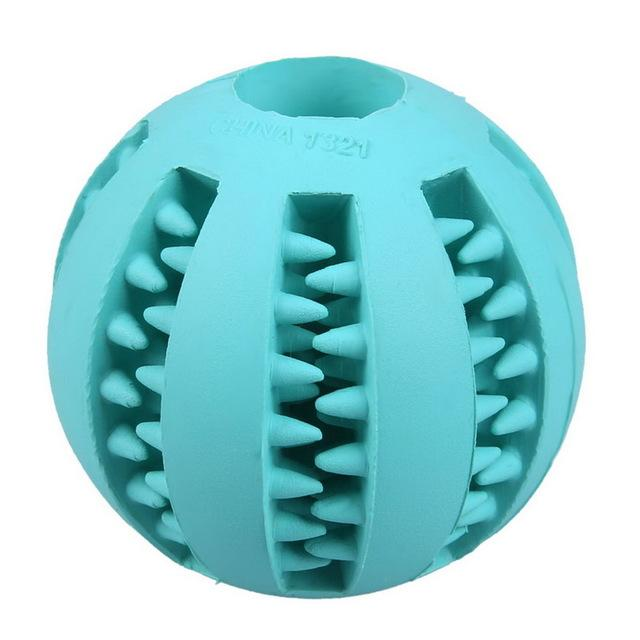 Interactive Rubber Balls Pets Dog Cat Elasticity Teeth Ball Chew Toys  Blue