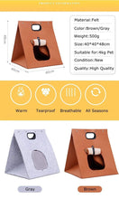 Load image into Gallery viewer, Washable Pet Cat Carrier Bag Foldable Portable Breathable Puppy Kennel