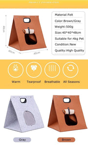 Washable Pet Cat Carrier Bag Foldable Portable Breathable Puppy Kennel