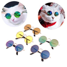 Load image into Gallery viewer, Cute Cool Stylish Funny Cute Pet Sunglasses Classic Retro Circular Cat