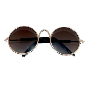 Cute Cool Stylish Funny Cute Pet Sunglasses Classic Retro Circular Cat