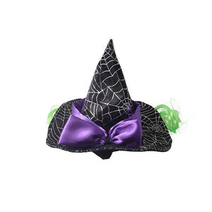Cool Star Spider Web Pet Cat Dog Halloween Costume Cosplay Wizard Hat