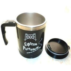 Cute Cat Self Stirring Stainless Steel Electric Coffee Automatic Mixer