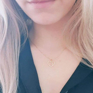 Minimalist Love Heart Necklace Cat Pendant Women Jewelry Pet Love Gift