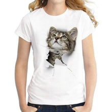 Load image into Gallery viewer, Cute 3D Cat T-shirt